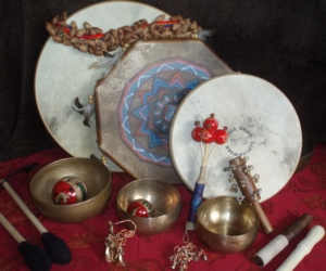 Drums, singing bowls, and shakes